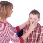inhaler used on child