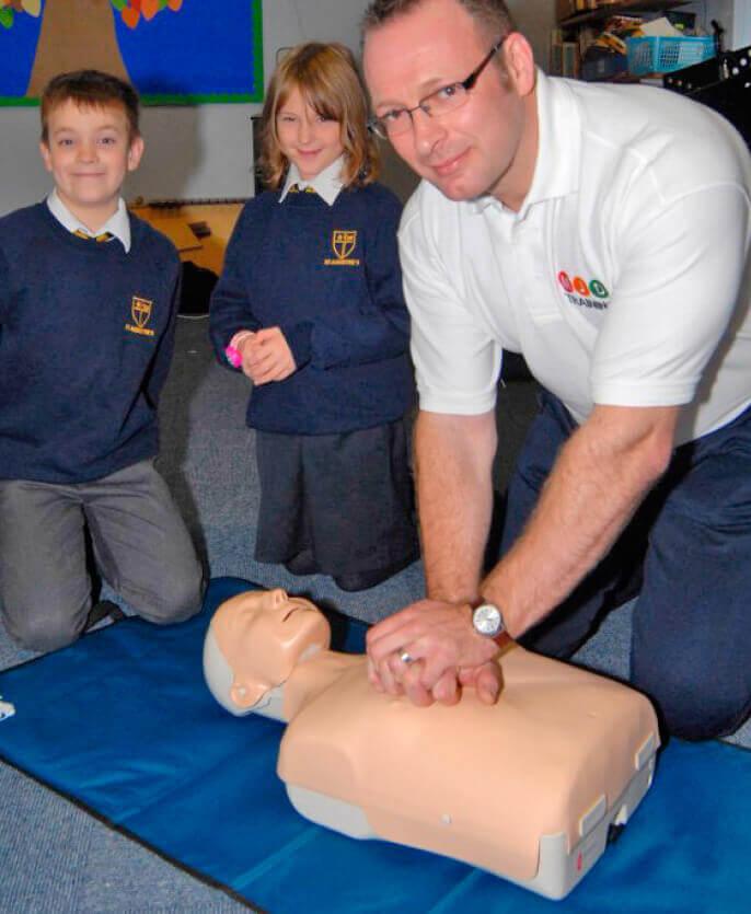 Darren Mitchell CPR training