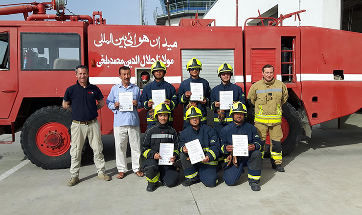 Training Firefighters in Afghanistan