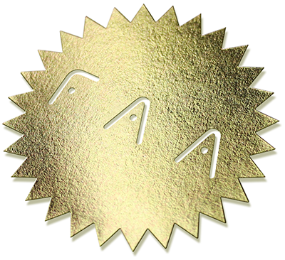 FAA gold stamp