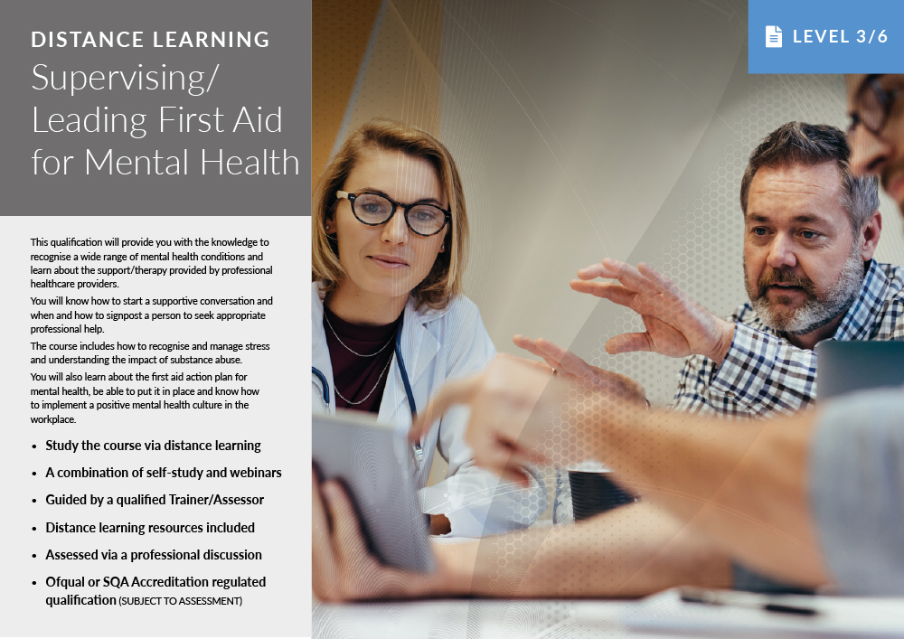 Distance learning, First Aid for Mental Health