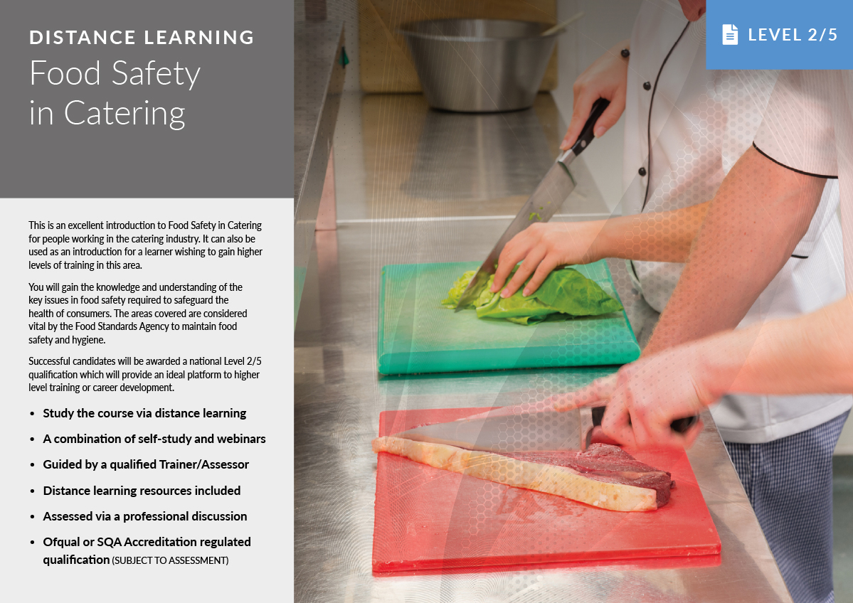 Food Safety in Catering – Distance Learning