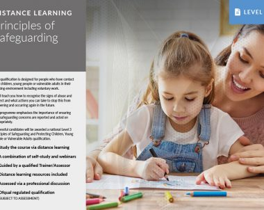 Principles of Safeguarding – Distance Learning