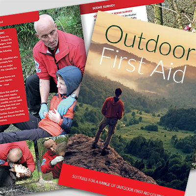 outside first aid book